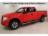 2014 Race Red Ford F150 STX SuperCab 4x4 #133809151