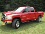 2007 Flame Red Dodge Ram 1500 Big Horn Edition Quad Cab 4x4 #13369423