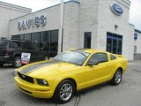 2005 Screaming Yellow Ford Mustang V6 Premium Coupe #13368758