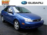 2005 French Blue Metallic Ford Focus ZX4 SES Sedan #13361690