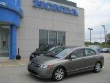 2007 Galaxy Gray Metallic Honda Civic LX Sedan #13354523