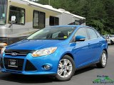 2012 Sonic Blue Metallic Ford Focus SEL Sedan #134011026