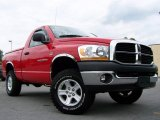 2006 Flame Red Dodge Ram 1500 SLT TRX Regular Cab 4x4 #13356119
