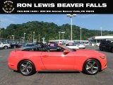 2016 Competition Orange Ford Mustang EcoBoost Premium Convertible #134168535