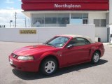 2001 Laser Red Metallic Ford Mustang V6 Convertible #13359616