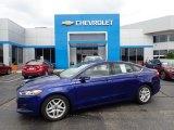 2015 Deep Impact Blue Metallic Ford Fusion SE #134189164