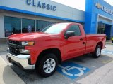 2019 Red Hot Chevrolet Silverado 1500 WT Regular Cab #134209519