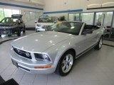 2009 Brilliant Silver Metallic Ford Mustang V6 Convertible #134209543