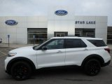 2020 Star White Metallic Tri-Coat Ford Explorer ST 4WD #134323319