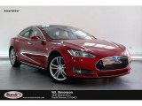 2013 Red Tesla Multi-Coat Tesla Model S P85 Performance #134323227