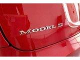 2013 Tesla Model S P85 Performance Marks and Logos