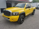 2008 Detonator Yellow Dodge Ram 1500 Laramie Quad Cab 4x4 #134360038