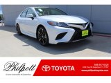 2019 Wind Chill Pearl Toyota Camry XSE #134379029