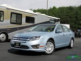 2011 Light Ice Blue Metallic Ford Fusion Hybrid #134378959