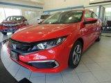 2019 Rallye Red Honda Civic LX Sedan #134394502
