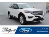 2020 Star White Metallic Tri-Coat Ford Explorer Limited 4WD #134420278