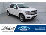 2019 White Platinum Ford F150 Platinum SuperCrew 4x4 #134420268