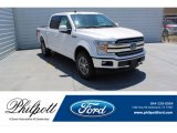 2019 White Platinum Ford F150 Lariat SuperCrew 4x4 #134442565