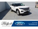 2020 Star White Metallic Tri-Coat Ford Explorer Limited #134486654