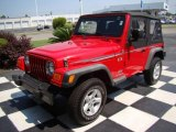 2006 Flame Red Jeep Wrangler X 4x4 #13440097