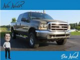 2002 Arizona Beige Metallic Ford F250 Super Duty XLT SuperCab 4x4 #134602093