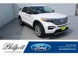 2020 Star White Metallic Tri-Coat Ford Explorer Platinum 4WD #134641048