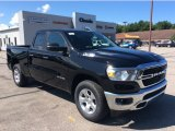 2019 Diamond Black Crystal Pearl Ram 1500 Big Horn Quad Cab 4x4 #134666555