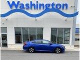 2019 Agean Blue Metallic Honda Civic LX Sedan #134726061