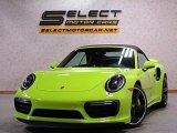 2018 Paint To Sample Acid Green Porsche 911 Turbo S Cabriolet #134742501