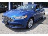 2017 Lightning Blue Ford Fusion Hybrid SE #134790367