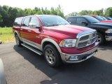 2009 Inferno Red Crystal Pearl Dodge Ram 1500 Laramie Crew Cab 4x4 #134790983