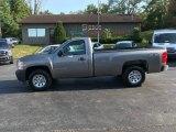 2008 Graystone Metallic Chevrolet Silverado 1500 Work Truck Regular Cab 4x4 #134791244