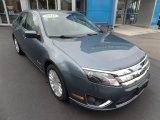 2011 Steel Blue Metallic Ford Fusion Hybrid #134912439
