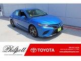 2019 Blue Streak Metallic Toyota Camry SE #134997744