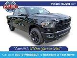 2020 Diamond Black Crystal Pearl Ram 1500 Big Horn Night Edition Crew Cab 4x4 #135068347