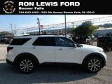 2020 Star White Metallic Tri-Coat Ford Explorer ST 4WD #135154459