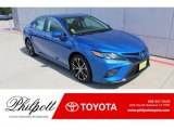 2019 Blue Streak Metallic Toyota Camry SE #135154604