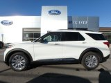 2020 Star White Metallic Tri-Coat Ford Explorer Limited 4WD #135248348