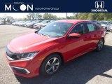 2019 Rallye Red Honda Civic LX Sedan #135264699