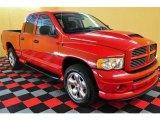 2004 Flame Red Dodge Ram 1500 SLT Sport Quad Cab 4x4 #13529060