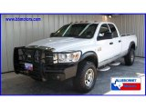 2007 Bright White Dodge Ram 3500 Laramie Quad Cab 4x4 #13531400