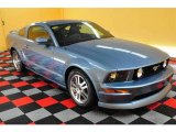 2005 Windveil Blue Metallic Ford Mustang GT Premium Coupe #13529047