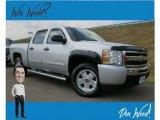 2010 Sheer Silver Metallic Chevrolet Silverado 1500 LS Crew Cab 4x4 #135434668