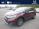 2019 Basque Red Pearl II Honda CR-V EX AWD #135449672