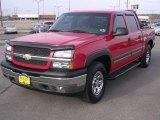 2005 Victory Red Chevrolet Silverado 1500 Z71 Crew Cab 4x4 #1347816