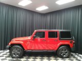 2017 Firecracker Red Jeep Wrangler Unlimited Freedom Edition 4x4 #135570524
