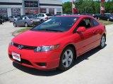 2007 Rallye Red Honda Civic EX Coupe #13519326