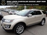 2017 White Gold Ford Explorer Limited 4WD #135780730