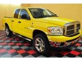 2007 Detonator Yellow Dodge Ram 1500 SLT Quad Cab 4x4 #13529068