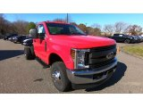 2019 Race Red Ford F350 Super Duty XL Regular Cab 4x4 Chassis #135898603